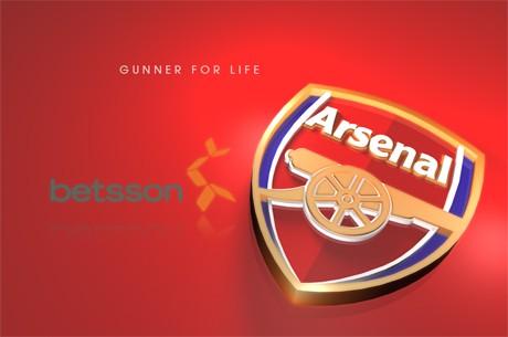 Betsson skriver treårs sponsoravtal med Arsenal