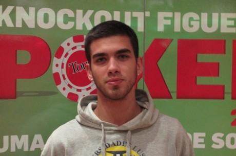 Diogo Teixeira é o chipleader do Dia 1 do Knockout Figueira Poker Tour de Setembro