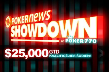 Overlejs ir garantēts $25,000 PokerNews Showdown turnīrā!