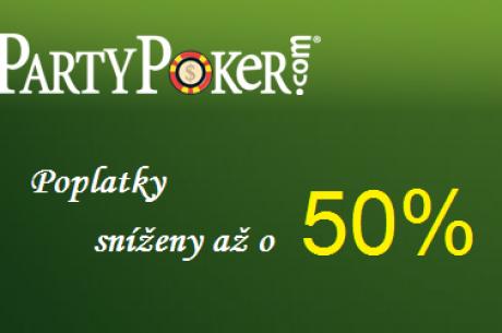 PartyPoker snižuje poplatky za SNG turnaje