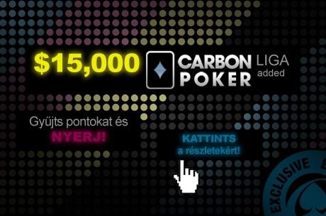 $15k PokerNews Carbon Poker Liga, heti 2 added verseny, 30 fős $10.200 garantált finálé