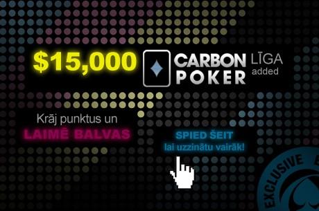Ekskluzīvā $15,000 PokerNews līga no Carbon Poker ir startējusi