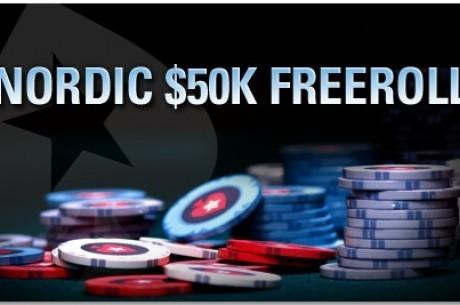 Tilmeld Dig Nordic $50K Freeroll hos PokerStars I Dag!