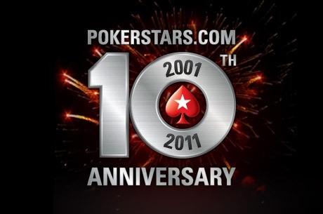 Celebra o 10º aniversário da PokerStars com $10M garantidos