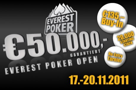 50.000€ garantidos no Everest Poker Open de Viena. Tu vais?