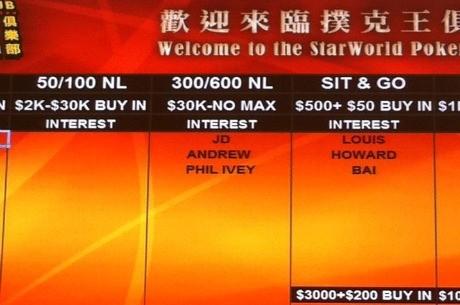 Empiezan las partidas de los niveles más altos del mundo en Macao