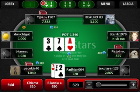 PokerStars пусна мобилен клиент за италианските играчи