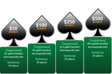 Paf Spade pokkeritoas tänasest kuni $2500 boonus!