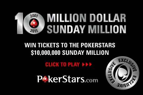 Consigue una entrada para el Sunday Million del 10.º Aniversario de PokerStars