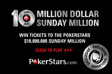 PokerStars 10th Anniversary Sunday Millionのためのポーカーニュース・サテライト