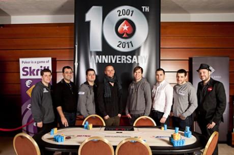 Украинец Денис Дробина на финальном столе PokerStars.com EPT Prague 2011