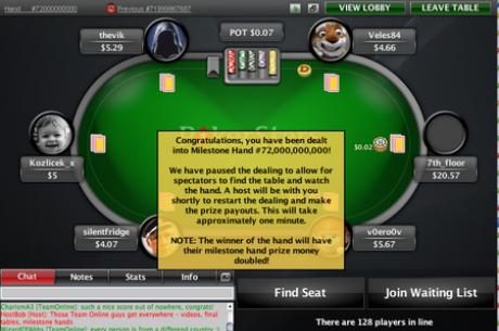 Разыграна 72-миллиардная раздача на PokerStars!