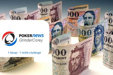 PokerNews GrinderCorey Challenge: 1 hónap alatt 1 millió pókerprofit élőben, legálisan