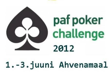 Kvalifitseeru Paf Poker Challenge 2012 turniirile