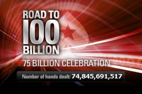 PokerStars míří k 75 mld. handě, připojíte se?