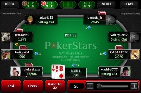 Pokera istabas palaiž telefonu aplikācijas