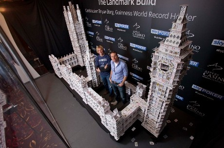 "Soccer AM Presenter Max Rushden Demolishes ""Cardstacker's"" Creation"