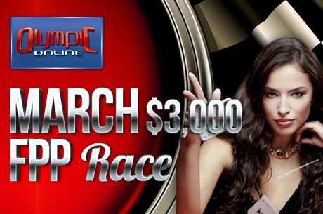 Märtsis Olympic-Online pokkeritoas $3000 FPP-ralli