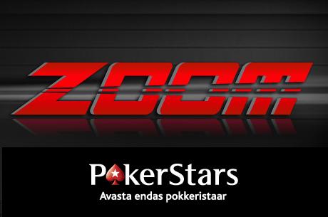 PokerStars alustas Zoom Poker rahamängude pakkumist