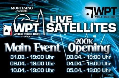 Élő szatellitek a Montesinoban és a Cotton Clubban a WPT Vienna versenyeire