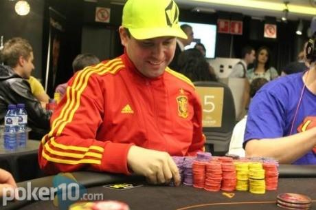 Miguel Ángel Rodríguez 'mikiantimadridista', líder del Día 2 de Estrellas Poker Tour...