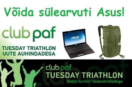 Mängi Tuesday Triathlon turniire ja võida sülearvuti Asus!