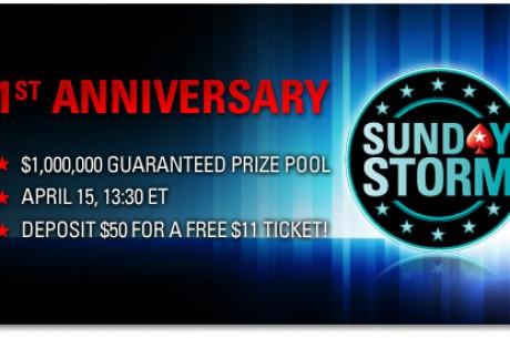 Специално издание на Sunday Storm. Депозирайте $50 и...