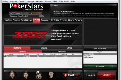 PokerStars смята да ZOOM-не всички кеш маси на високи нива