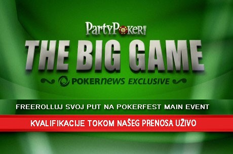 PokerNews Snima PartyPoker Big Game - Prenos Uživo!