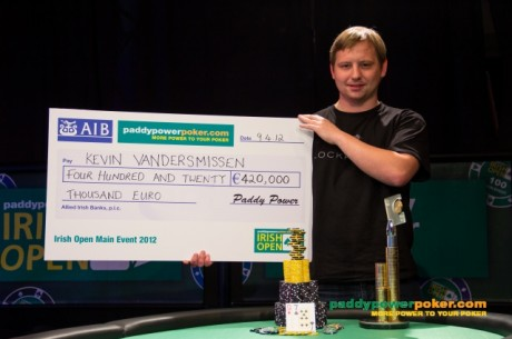 PokerNews Boulevard: Kevin Vandersmissen wint Irish Open voor €420.000!