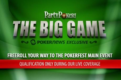 PokerNews tiesiogiai transliuos PartyPoker Big Game žaidimą!!!