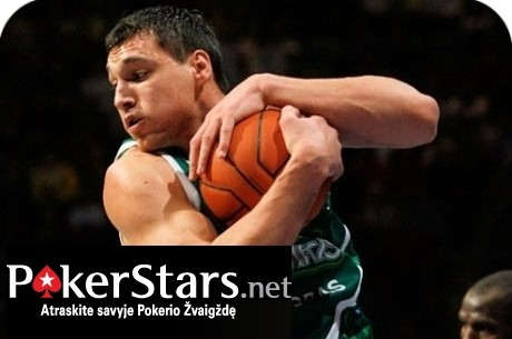 """PokerStars.net pristato """"Krepšinio karštinę"""", kurioje siūlo susigrumti  su Jonu..."""