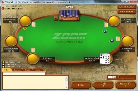 Una de cada cuatro manos jugadas con dinero en Internet se juega en Zoom Poker