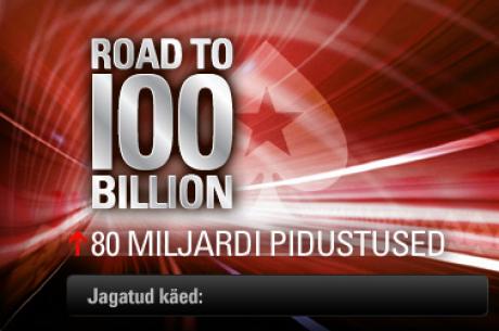 Milestone käed PokerStarsis: kohe saab täis 80 miljardit
