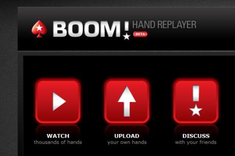 PokerStars presenta Boom: un reproductor en vídeo de las manos jugadas