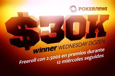 La promo de freerolls $30k Wednesday Dozen Series continúa en Winner Poker