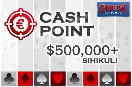 Olympic-Online Cash Point kampaanias jagatakse üle $500 000