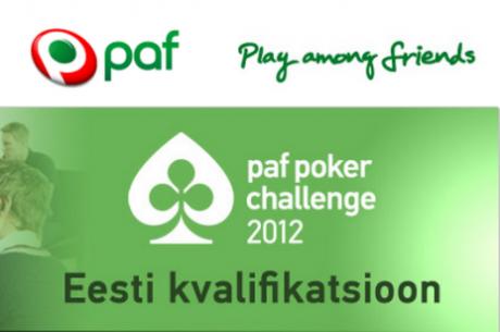 Just Sina võid täna võita Paf Poker Challenge $1750 paketi!