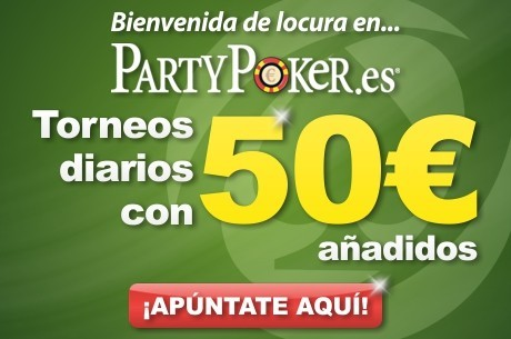 Bienvenida de PartyPoker.es para los jugadores de PokerNews: 40 torneos con 2.000€ añadidos