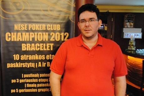 """Po neįtikėtinos pabaigos Nesės """"Bracelet"""" turnyro čempionu tampa Borisas Smuškevičius"""