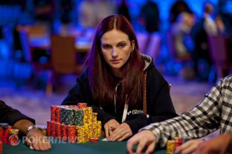 Eliabeth Hille er nr 17 av 97 spillere til Dag 6 av Main Event - Helge Stjernvang er nr 30...