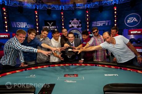 WSOP pagrindinis turnyras  2012: susiformavo stipriausiųjų devintukas
