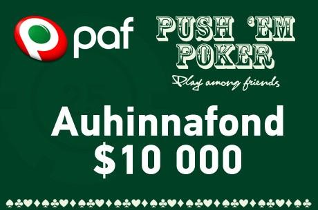 Push`em Poker $10 000 tutvustuskampaania!