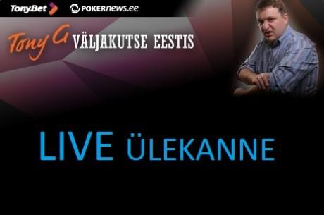 Tony G Eesti väljakutse otseülekanne + mängijate tutvustus!
