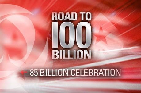 """PokerStars deu a """"85 billionth hand"""" na Segunda como parte da celebração do Mega..."""