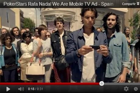 Rafa Nadal, protagonista de un anuncio para TV de PokerStars