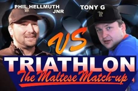 VIDEO: Tony G ja Phil Hellmuthi triatloni 2. ala: ujumine