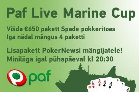Pokernews Paf Live Marine Cup miniliiga turniiride kuupäevades muudatused!