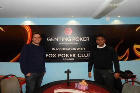 Mohammed Suhail and Roland Redhead Chop Fox Poker Club Main Event