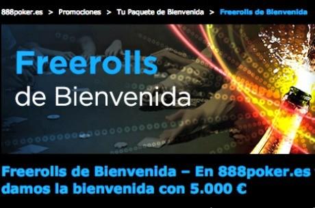 En 888Poker te hartarás a jugar Freerolls con garantizado.